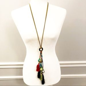 Treska Fun Boho Multi-Tassel Pendant Necklace